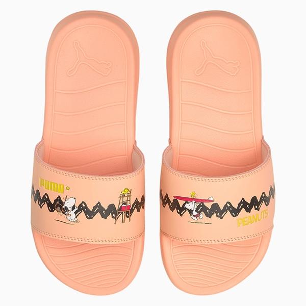 PUMA x PEANUTS Popcat 20 童鞋 大童 拖鞋 休閒 史努比 聯名 輕量 粉【運動世界】37582502