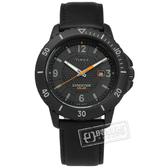 TIMEX 天美時 / TXTW4B14700 / EXPEDITION 遠征系列 太陽能電力 日期視窗 真皮手錶 黑色 45mm