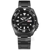 SEIKO 精工 / 4R36-07G0SD.SRPD65K1 / 5 Sports 機械錶 自動上鍊 不鏽鋼手錶 鍍黑 41mm