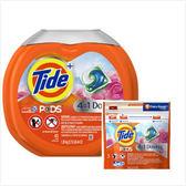 美國Tide洗衣凝膠球四合一--四月花香(43粒)*1+(12粒)*3
