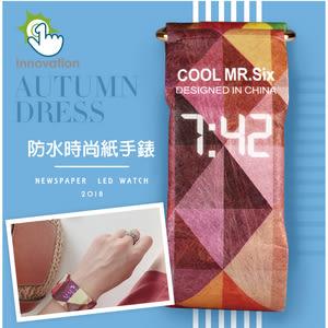 【APEX】環保時尚超輕薄防水紙手錶鯨魚