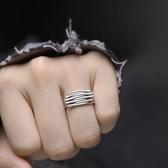 開口可調復古銀戒指編織手工做舊/設計家