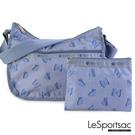 LeSportsac - Standard側背水餃包/流浪包-附化妝包 (翩翩飛舞) 7520P F566