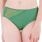 思薇爾-花影系列M-XXL蕾絲中腰三角內褲(長石綠)