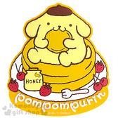 〔小禮堂〕布丁狗 立體造型裝飾貼《黃.鬆餅.草莓.蜂蜜.坐姿》輕鬆裝飾 4901610-08545