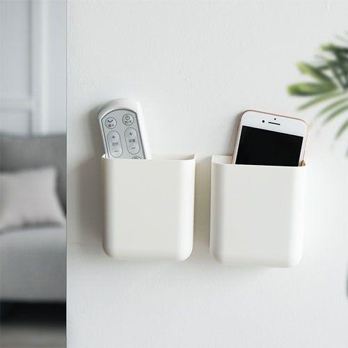~宜家199免運~空調遙控器收納掛架 壁掛式收納盒 手機充電壁掛盒