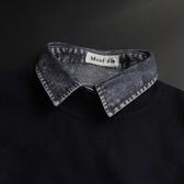假領子襯衫穿搭假衣領T恤雪花丹寧牛仔不敗款 韓版百搭外套針織衫洋裝[E1131]預購朵曼堤洋行