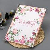 英倫玫瑰森系簽到本結婚禮金薄簽名冊題名薄禮金本商務活動簽到冊 夢想生活家