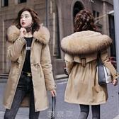 反季羽絨棉服女中長款2020冬裝新款派克服寬鬆加絨加厚棉衣外套潮 快速出貨