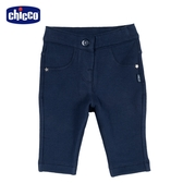 chicco-To Be Baby-刷毛彈性長褲-青
