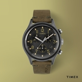 TIMEX 天美時 (TXTW2R96600) 潮流三眼計時手錶 橄欖綠/42mm