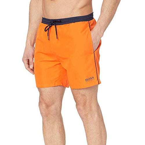 HUGO BOSS 男Starfish泳褲(橙色)