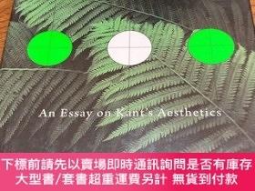 二手書博民逛書店An罕見essay on kant's aesthetics(Expressions of judgment)