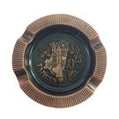 【收藏天地】台灣紀念品*台灣寶島圓形銅色飾磁鐵