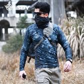 【新年鉅惠】戶外特種兵迷彩緊身衣男長袖軍迷戰術T恤透氣排汗彈力運動速干t恤
