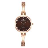 新品上市 ◢BENTLEY 賓利◣ 優雅三針石英女錶  日本機芯 德國製造BL1859-102LRDI玫瑰金X咖啡