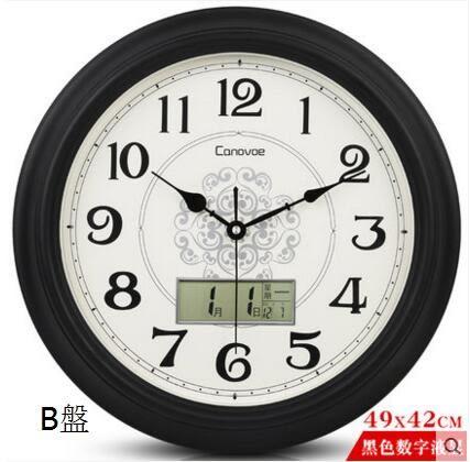 凱諾時歐式電子鐘錶掛鐘客廳復古靜音  (16寸液顯款)四個顏色