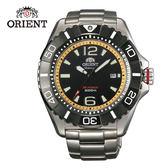 ORIENT 東方錶 M-FORCE系列 鈦金屬200m潛水機械錶 鋼帶款 SDV01002B 黃色 - 47mm