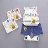嬰兒短袖套裝 123背心+短褲 寶寶童裝 YN4648 好娃娃