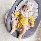 爬行服 女嬰兒連體衣服男寶寶0網紅3秋冬裝6個月1歲外套裝嬰幼兒 nm12826【Pink中大尺碼】