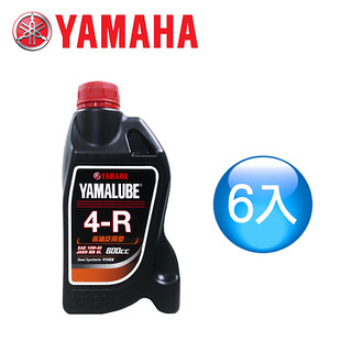 【山葉YAMAHA原廠油】YAMALUBE 4-R 900cc省油泛用型(6瓶)