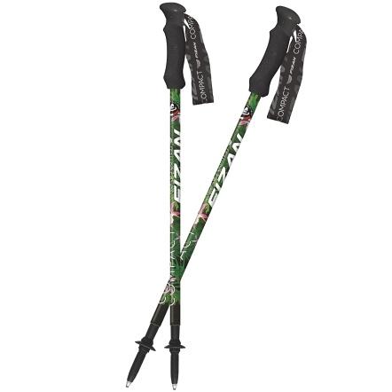 [好也戶外] FIZAN 超輕三節式健行登山杖2入特惠組/森林 No.FZS20.7102.EFT