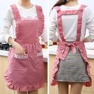 韓版時尚雙層防水防油圍裙廚房做飯圍腰罩衣【聚寶屋】
