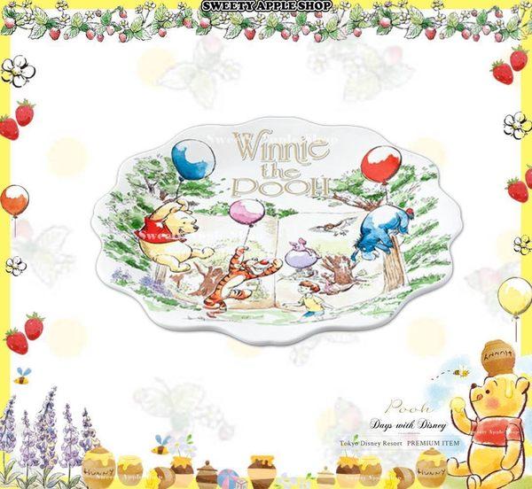 (現貨&實拍) 日本限定 東京迪士尼 x Afternoon tea 聯名限定 小熊維尼家族 陶瓷盤子 / 餐盤