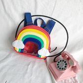 全館85折兒童雙肩包女韓版潮寶寶彩虹ins可愛小學生男女孩小童書包幼兒園 森活雜貨