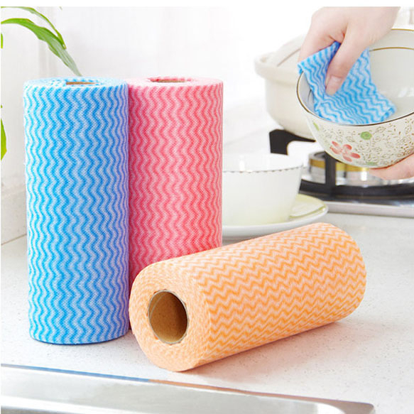 Qmishop 撕式不織布免洗抹布 餐巾紙 一次性紙巾 吸水 衛生紙 廚房 浴室 大掃除【J2351】