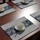 中式餐桌布藝亞麻餐巾布隔熱墊 ☸mousika