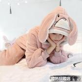 睡衣 睡衣女秋冬珊瑚絨可愛甜美加厚加絨法蘭絨家居服冬季網紅爆款套裝