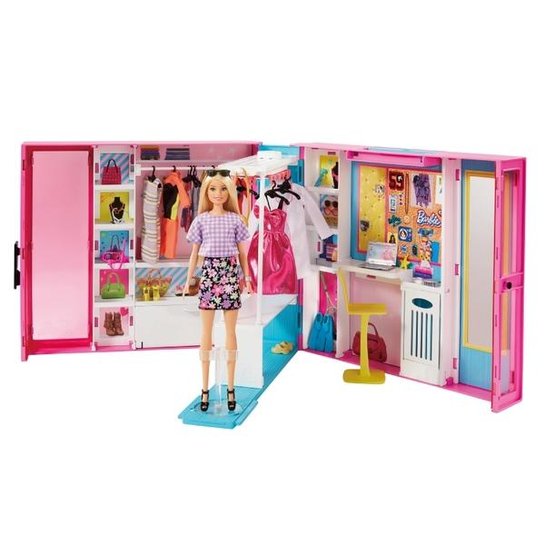 芭比娃娃Barbie 夢幻衣櫃 玩具反斗城