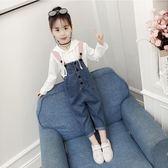 女童秋裝套裝2019新款韓版時尚潮衣兒童春秋時髦洋氣背帶褲兩件套 遇見寶貝
