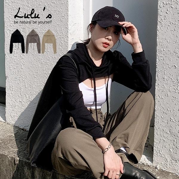 LULUS【A01200885】K自訂款連帽超短版造型上衣3色