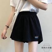 夏季闊腿衛褲高腰寬鬆休閒運動短褲【時尚大衣櫥】