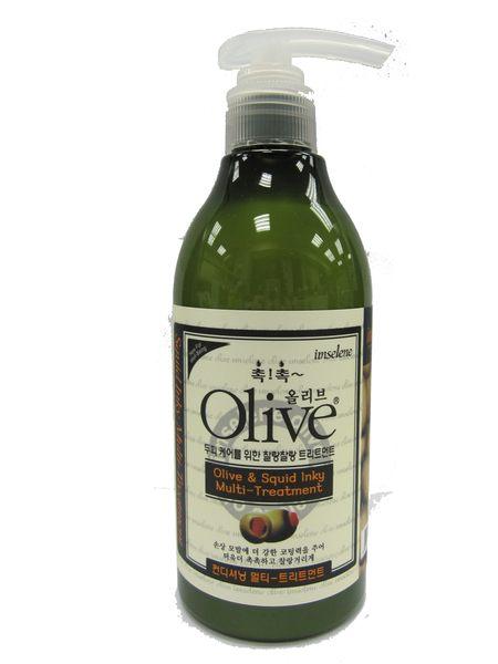 韓國【Olive】 300ml 橄欖墨魚汁多功能洗髮精【 imselene英絲林】