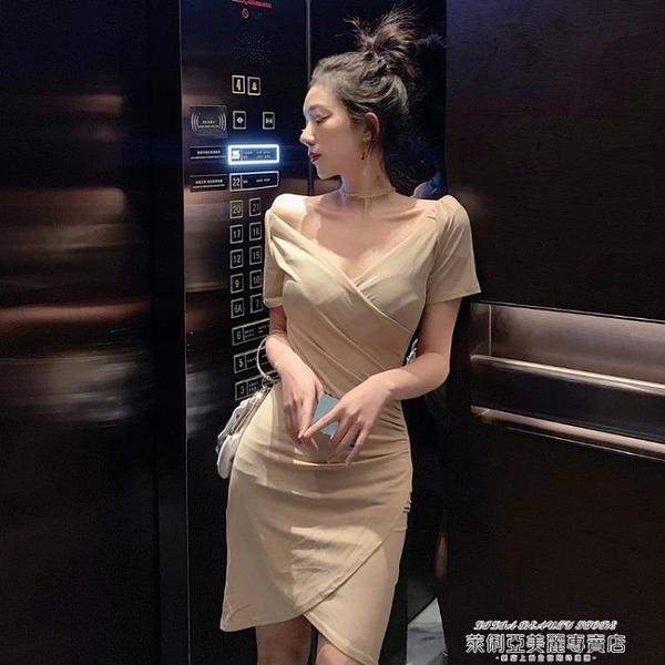 夜店洋裝 可鹽可甜炸街性 感裙子女夏季夜店裝法式一字肩連身裙顯瘦氣質裙 【618 狂歡】