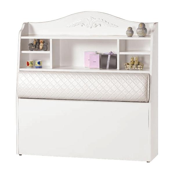 【森可家居】仙朵拉3.5尺書架型被櫥頭 8CM672-6 單人 置物床頭箱