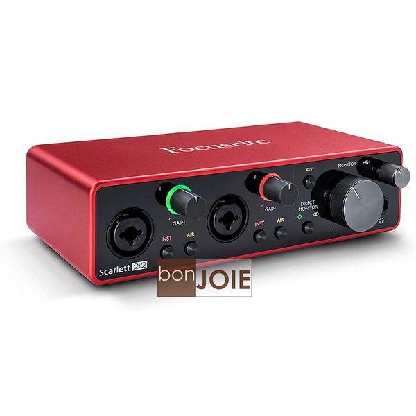 ::bonJOIE:: 第三代 Focusrite Scarlett 2i2 (3rd Gen) USB 錄音介面 (全新盒裝) 2in/2out Audio Interface 錄音盒