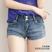 激瘦款短褲NEW LOVER牛仔時尚【111-5749】修身激瘦款撞色拼布短褲-M-L