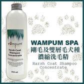 *KING WANG*【折扣碼Yahoo2019享9折】【wampum SPA】剛毛及雙層毛犬種用濃縮洗毛精-500ML