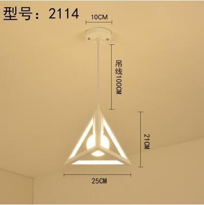 2114白色款北歐餐廳吊燈創意個性餐廳燈飯廳燈現代鐵藝