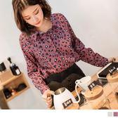 《AB8778-》時髦流行豹紋印厚雪紡襯衫 OB嚴選