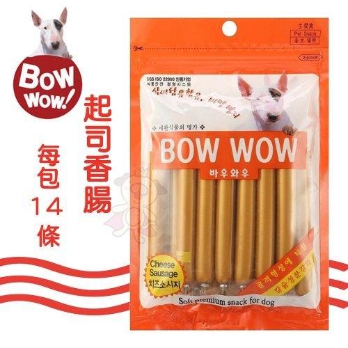 『寵喵樂旗艦店』韓國BOWWOW《起司香腸》14條/包 犬用零食