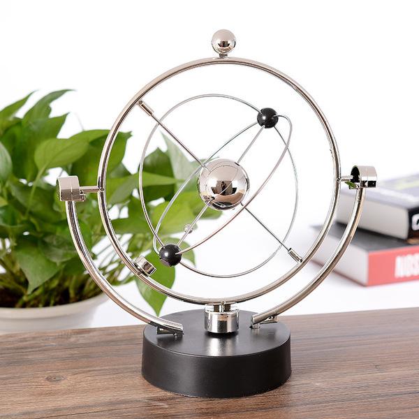CH152─創意天體軌道永動儀旋轉電磁擺物理模型畢業禮物送同學老師(108*108*240mm)