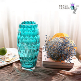 【Meric Garden】現代簡約創意藝術裝飾玻璃花瓶(藍色)