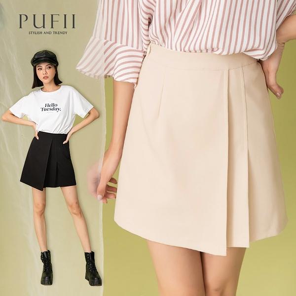 限量現貨◆PUFII-褲裙 側拉鏈氣質西裝短裙褲裙- 0415 現+預 春【CP20108】