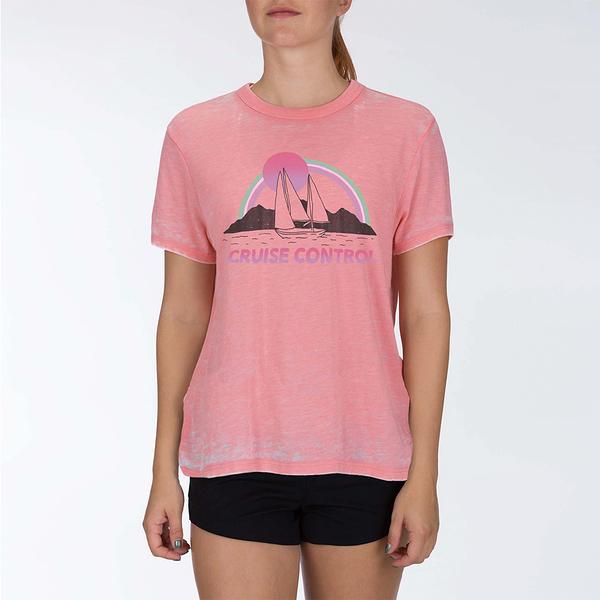 Hurley W CRUISE CONTRL BURNOUT TEE TOPAZ MIST T恤