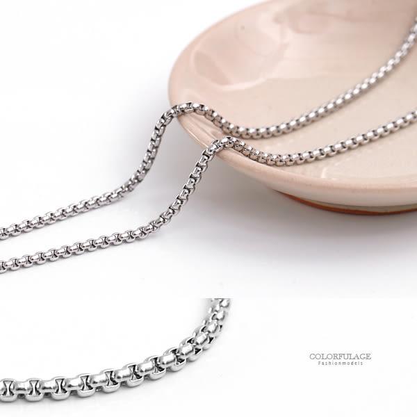 項鍊 細版方形環環相扣鋼鍊 質感極佳【NB752】帥氣有型